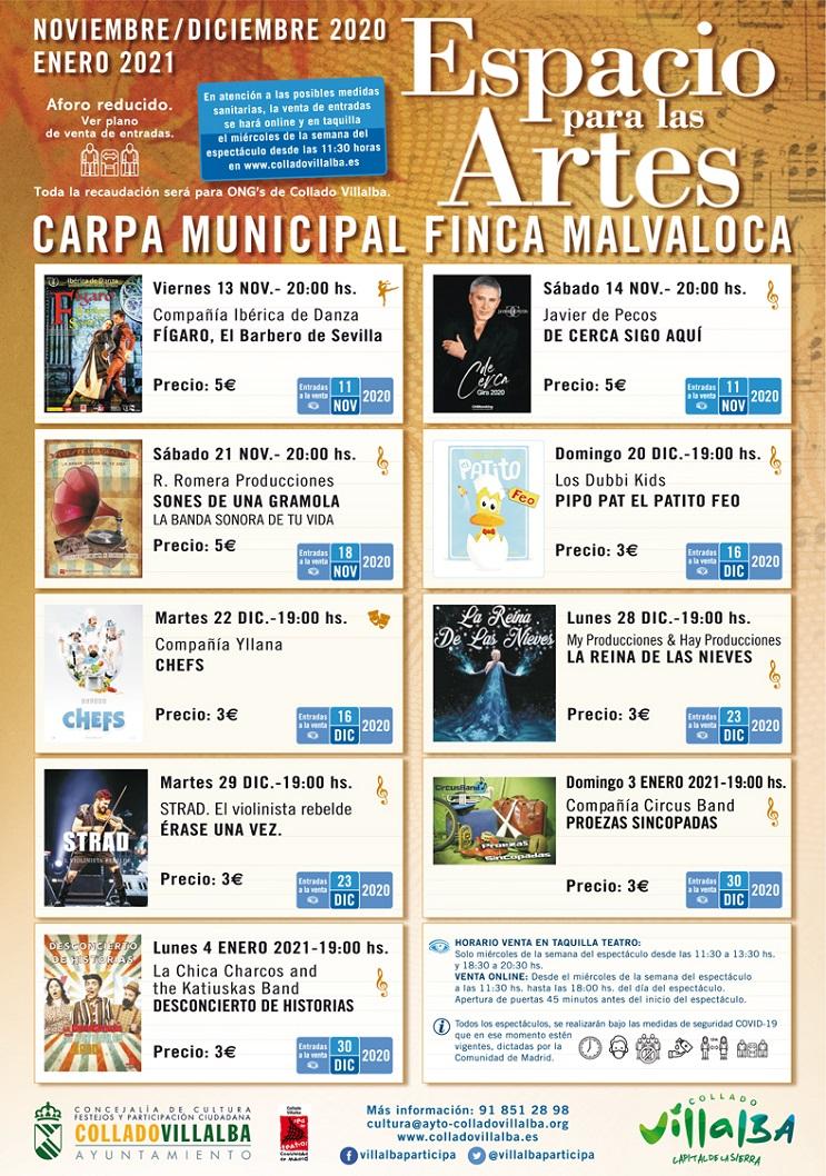 CARTEL BOLETIN CULTURA ESPACIO PARA LAS ARTES A 743