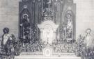 Altar de la Iglesia Nuestra Señora del Enebral, año: 1950 / Situación actual: Iglesia de Nuestra Señora del Enebral