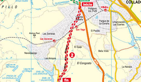 Mapa ruta Dehesas del Escorial
