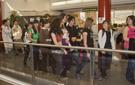 Los alumnos durante su visita al Ayuntamiento