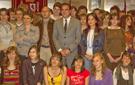Foto de grupo de los alumnos visitantes