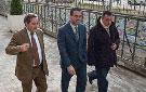 Eugenio Sánchez, José Pablo González y Juan José Morales