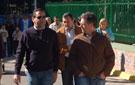 El alcalde, junto con los responsables de Urbanismo y Obras.