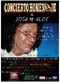 Cartel del concierto homenaje a José María Eloy