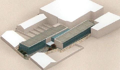 Maqueta del edificio de la Seguridad Social