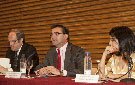 Ángel Gabilondo, José Pablo Gónzalez y Beatriz Martín