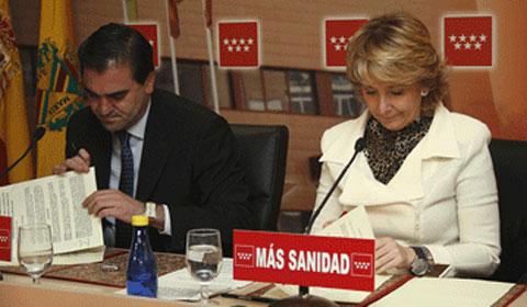 José Pablo González y Esperanza Aguirre