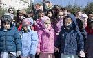 Los niños durante el acto